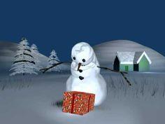 Un bonhomme de neige ...heureux ! - YouTube