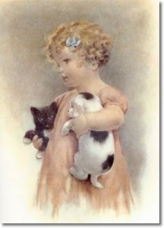 Such a charming image by the wonderful  Bessie Pease Gutmann.