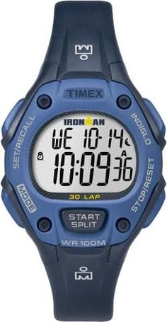 Timex Ironman Classic 30-Lap Mid-Size Watch Blue Mid Size