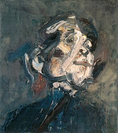 Frank Auerbach - Portrait of J.Y.M. Frank Auerbach, Abstract Portrait, Portrait Art, Portraits, Figure Painting, Painting & Drawing, Academic Art, Art Of Love, Sad Art