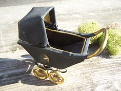 Betty Magel Artisan made Collector Miniature Baby Buggy.