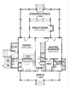 Cottage Floor Plans, Farmhouse Floor Plans, Cabin Floor Plans, Cottage House Plans, Stilt House Plans, House On Stilts, Best House Plans, Dream House Plans, Cabin Design