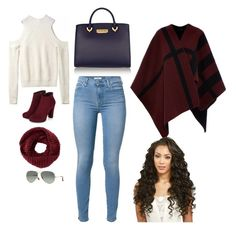 """""""fall is hear and im so happy"""" by ahmya-artis on Polyvore featuring Burberry, 7 For All Mankind, ZAC Zac Posen, TOMS and Ray-Ban"""