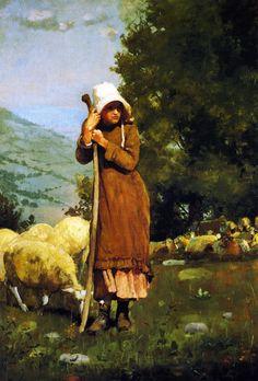 The Athenaeum - The Shepherdess (Winslow Homer - )