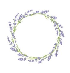 Circle of lavender flowers vector 4411984 - by Lidiebug on VectorStock®