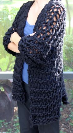 NEW Hand Knit Designer Sweater Super Bulky Yarn in by bpenatzer, $259.00