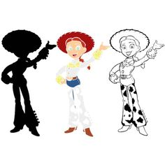 The Toy Story Layered SVG DXF Silhouette Cricut Cameo Vinyl Cut Files Digital Jessie Disney Iron On Designs Birthday Tshirt Decal Stencil Jessie Toy Story, Jessie Disney, 3d Cuts, Toy Story Coloring Pages, Diy Mermaid Tail, Toy Story Crafts, Disney Iron On, Disney Silhouettes, Disney Images