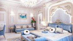 Bedroom Interior Design in Dubai by Luxury Antonovich Design Bedroom False Ceiling Design, Luxury Bedroom Design, Master Bedroom Design, Interior Design Living Room, Room Interior, Guest Room Decor, Home Decor Bedroom, Dressing Design, Interior Design Gallery