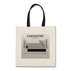 Periodic Table of the Elements Tote Bag by Janz Tote Bags