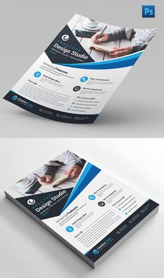 New creative Photoshop flyer templates suitable for corporate business and organization. Professional flyer designs are the most impressive and popular way of Graphic Design Flyer, Graphic Design Inspiration, Flyer Design, Layout Design, Print Design, Brochure Layout, Brochure Design, Branding Design, Brochure Format