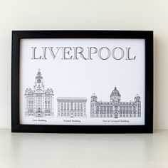 Liverpool Print, Liver Building, Liverpool, art print, Cunard Building, Port of Liverpool, Picture of Liverpool, England by PeonyandThistle on Etsy https://www.etsy.com/listing/215383402/liverpool-print-liver-building-liverpool