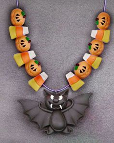 The New Clay News: Bat Necklace Tutorial