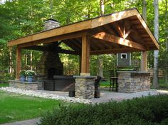 Pavilion Patio - rustic - Patio - Other Metro - The Site Group