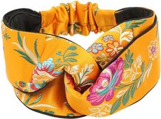 Beautiful Tokyo Printed Silk Knot Headband - Gucci Hair Accessories - Nail Effect Sewing Headbands, Fabric Headbands, Turban Headbands, Elastic Headbands, Headband Hairstyles, Flapper Headband, Gold Hair Accessories, African Accessories, Head Wrap Headband