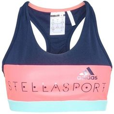 Adidas by Stella McCartney Stellasport Bras ($28) ❤ liked on Polyvore featuring activewear, sports bras, indigo, adidas, adidas activewear, adidas sports bra, adidas sportswear and blue sports bra