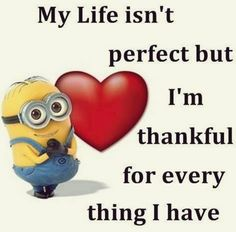#minions not perfect thankful for everything I have