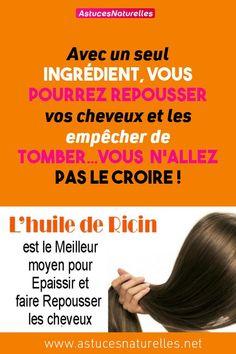 Avec un seul ingrédient, vous pourrez repousser vos cheveux et les empêcher de tomber…Vous n'allez pas le croire !