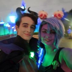 The most perfect #tbt #selfie ever! Me with the greatest person in the world (@kamikazma) dressed up at Disneyland on Halloween  #disneyland #halloween #cosplay by cryptoursa