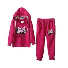Timall Baby Girls Sports Hoodie Jacket Outfits Set Long Sleeve Cartoon Sweat Suit - Brought to you by Avarsha.com