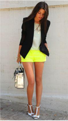 Pantalones cortos fluor