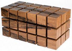 Wohnzimmertisch Holz- Designer Couchtisch - Nussbaum, Buche, Eiche
