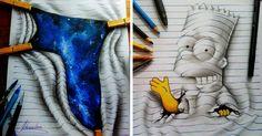 Este artista de 16 años crea dibujos en 3D que saltan del papel | Bored Panda