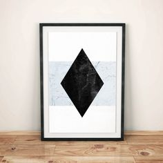Rhombus and Marble Black Rhombus Instant por WildMoonriseDesigns