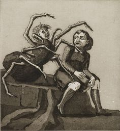 Paula Rego. Little Miss Muffet.