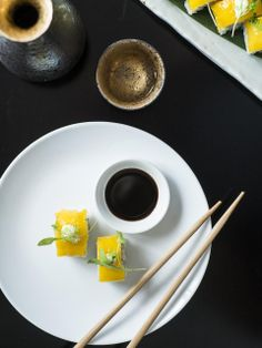 Housed in a converted warehouse, Ebisu restaurant in #Auckland, New Zealand turns out contemporary Japanese dishes (seared duck breast with wasabi tartare) alongside creative cocktails.