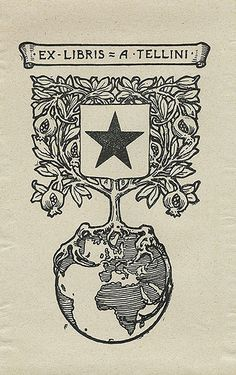 [Bookplate of A. Tellini] by Pratt Libraries, via Flickr