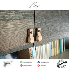 Loop  is a series of handles and knobs - available in real leather, artificial leather or in felt!  #handlesandmuchmore #knob #handle #SMD #interior #furniture #design #leather #craft #real #artificial #felt
