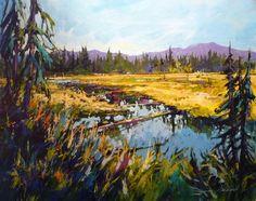 Marsh Reflections - Perry Haddock - BC Artist