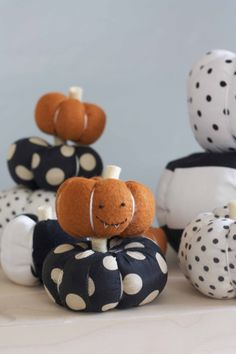 Stuffed Fabric Pumpkin Tutorial - there's also a super cute candy corn banner in the background that looks super easy!