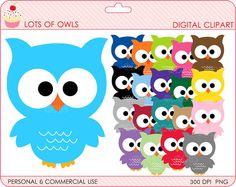 owls clipart digital clip art birds  BUY 2 GET by DigitalBakeShop, $5.00