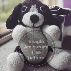 Beagle Amigurumi https://hellostitchesxo.wordpress.com/2015/01/20/beagle-dog-amigurumi-crochet-free-pattern/ and https://hellostitchesxo.wordpress.com/2015/03/06/beagle-dog-amigurumi-part-2-body-arms-tail/