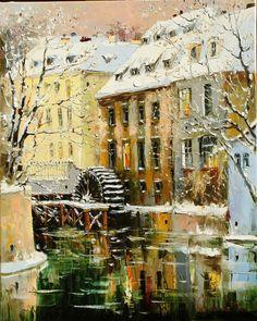 Winter Prague 100x80 2006