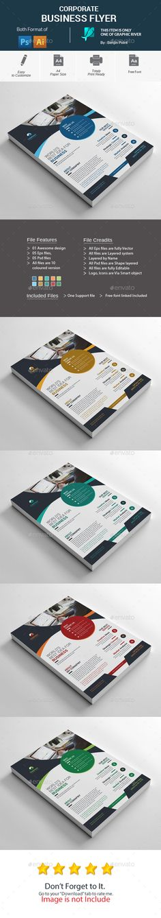 #Corporate #Business #Flyer #template - Corporate Flyers #design. download: https://graphicriver.net/item/corporate-business-flyer/20333649?ref=yinkira