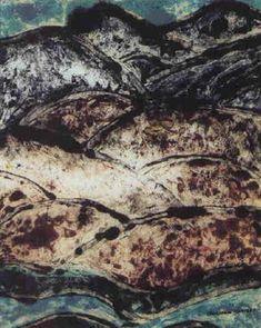 """Mountain Landscape,"" Marsden Hartley, 1925, color monotype, 11.8 x 9.8"", private collection."