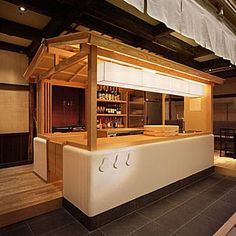 プラン画像 Sushi Bar Design, Kiosk Design, Cafe Design, Booth Design, Interior Design, Japanese Coffee Shop, Japanese Bar, Japanese Design, Restaurant Seating