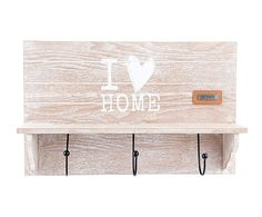 Colgador de madera Home - natural