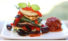 Roasted vegetable stack with tomato relish - Kidspot