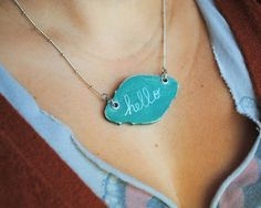 chalkboard necklace