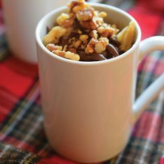 English Toffee Microwave Mug Cakes