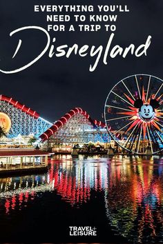 Everything You'll Need to Know for a Trip to Disneyland Disneyland Resort, Disney Cruise, Disney Vacations, Disney Facts, Disney Tips, Best Family Vacations, Family Travel, Disney California Adventure Park, Disney Vacation Planning