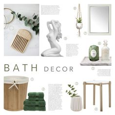"""Bath Decor"" by c-silla ❤ liked on Polyvore featuring interior, interiors, interior design, home, home decor, interior decorating, Mullein & Sparrow, Universal Lighting and Decor, Dot & Bo and Christy"