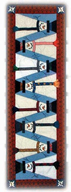 Snowman table runner pattern