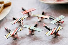 Candy planes! So cute for a kid's party