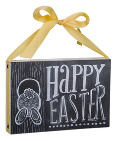 Look at this 'Happy Easter' Chalk Sign on #zulily today!