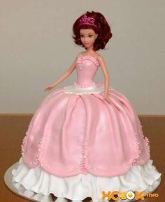 МК Барби кукла торт -Barbie doll cake tutorial - Мастер-классы по украшению тортов Cake Decorating Tutorials (How To's) Tortas Paso a Paso Girl Birthday Themes, Princess Birthday, Fondant Cakes, Cupcake Cakes, Doll Cake Tutorial, Barbie Cake, Barbie Dolls, Baking Business, Dear Daughter