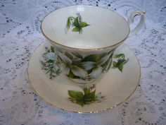 Royal Albert Bone China Teacup and Saucer TRILLIUM by TeacupsNMore